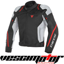 Giacca Dainese Air Master Tex Jacket Black/Glacial-Gray/Fluo-Red (N/G/R)