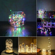 60LED 20LED String Battery Copper Wire Fairy Wedding RGB White Light Xmas Party