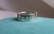 """TIFFANY & CO. STERLING SILVER & DIAMOND """"LOCKS"""" COLLECTION RING!!!"""