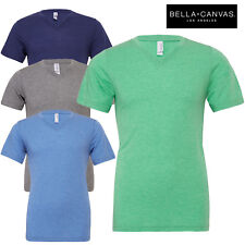 Bella+Canvas Ladies Short Sleeve V-Neck Triblend Slim Fit T-Shirt Everyday Top