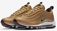 Nike AirMax 97 OG QS Metallic Gold Varsity Red 884421-700 & GS 100%AUTHENTIC