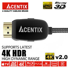 ACENTIX® HDMI 2.0 Cable UltraHD 4K 60Hz 18Gbps for SKY Q PS4 Pro XBox One S