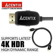 ACENTIX® 4K ULTRA HIGH SPEED HDMI v2.0 HD CABLE 0.5/1/1.5/2/3/5/7.5/10/15/20M