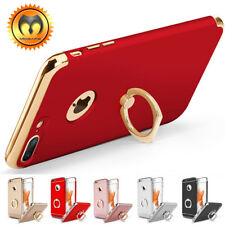 For iPhone XS X 6 6S 7 8 Plus Ring Shockproof Ultra Thin Hybrid Hard Case Cover