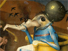 Aluminio-Dibond Garden of Earthly Delights, Hell (detail) - Hieronymus Bosch