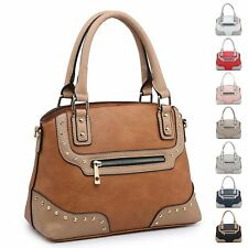 Ladies Stylish Faux Leather Two Tone Handbag Zip Shoulder Bag Bucket Bag MA36051