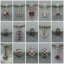 ~ Purple Style Rhinestone Charms ~ FOR CHARM BRACELETS ~ Organza Gift Bag ~