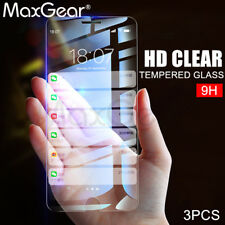 MaxGear® 3pcs 9H Tempered Glass Screen Protector iPhone 5 5S SE 8 7 6 6s Plus X