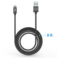 1.5m Micro USB Braided Data Sync Cable Charger Lead For Samsung Mobile Phones