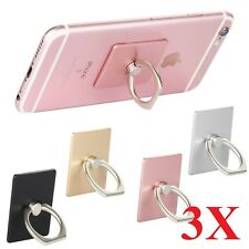 3-Pack Universal 360 Rotating Finger Ring Stand Holder For Cell Phone iPhone