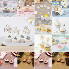 Birthday Cupcake Toppers Wedding Baby Shower Food Picks Party Cake Decoration