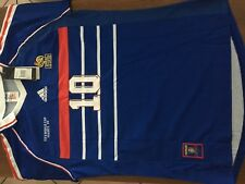 MAILLOT FOOT COLLECTOR ZIDANE HENRY FRANCE BRESIL FINALE COUPE DU MONDE 1998