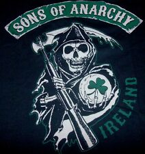 Sons Of Anarchy MIETITORE GIROCOLLO LOGO IRLANDA 2-sided T-shirt con stampa