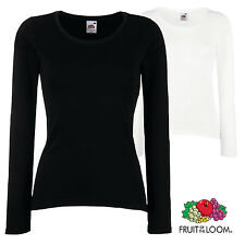 FRUIT OF THE LOOM DONNA VALUEWEIGHT TUTTI I GIORNI maniche lunghe t-shirt