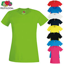 FRUIT OF THE LOOM DONNA MANICA CORTA PERFORMANCE SPORT T-shirt VELOCE A SECCO