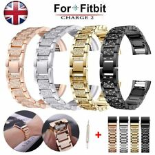 Watch Strap For Fitbit Charge 2 Replacement Band Crystal Bracelet Wristband UK