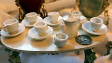 1890s Antique Doll Dishes Dollhouse Dishes Miniature Tea Set Victorian Ironstone