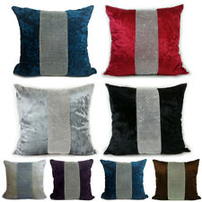 Diamante Sparkle Middle Crushed Velvet Cushion Covers or Filled Cushions