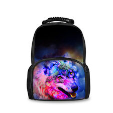Galaxy Wolf Backpack Women Bag Stylish Rucksack Travel Hiking Gym Bag Bookbags