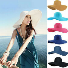 1Pcs Fashion Straw Beach Hat Folderable Colorful Derby Large Floppy For Women