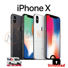 Unlocked Apple iPhone X 64GB 256GB Silver Space Gray AT&T T-Mobile Metro PCS GSM