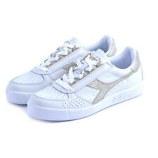 Shoes sneakers Diadora B.ELITE LWN woman leather white gold gold Saucony Asics