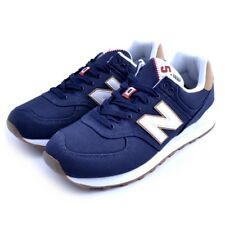 Baskets chaussures New Balance ML574YLC homme bleu tissu toile Saucony Asics