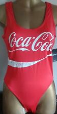 COCA-COLA ONE-PIECE STRETCH SWIMSUIT RED/WHITE-BNWT