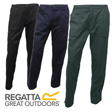 """REGATTA MEN'S ACTION TROUSERS KNEE PATCHES WATER REPELLENT POCKETS LONG 28-46"""""""