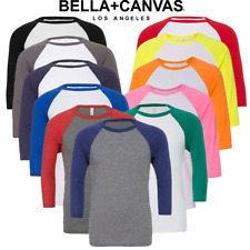 Bella+Canvas BE100 Triblend Unisex 3/4 Sleeves Baseball Sports Wear T-shirt new