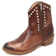 stivaletto 63908 MR. WOLF CUOIO VINTAGE scarpa stivale donna boots shoes women