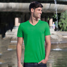 Gildan GD010 Mens Plain V-Neck T-Shirt Euro Style Fit Short Sleeves Soft Tshirts