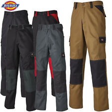 """DICKIES WORK TROUSERS KNEE PAD CARGO POCKETS DURABLE WORKWEAR SIZES 30-46"""" SHORT"""