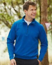FRUIT OF THE LOOM HOMME pull Cadet col fermeture éclair col Sweat couleurs S-2XL