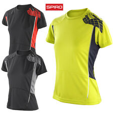 SPIRO LADIES GYM T-SHIRT RUNNING SPORT TRAINING QUICK DRY BREATHABLE LIGHTWEIGHT