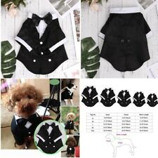 Pet Dog Puppy Tuxedo Bow Tie Shirt Wedding Party Dress Suit Costume Clothes