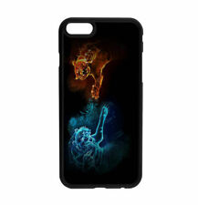 Neon tiger fight Hard Back Phone Case For iPhone & Samsung D64