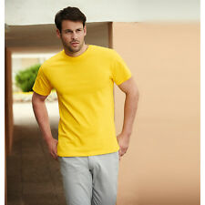 Fruit of the Loom Heavy Cotton T-Shirt Mens Crew Neck Half Sleeves Plain Shirts