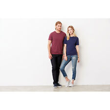 Unisex Triblend T Shirt Short Sleeves Crew Neck Casual Plain Jersey Tee Top Fit