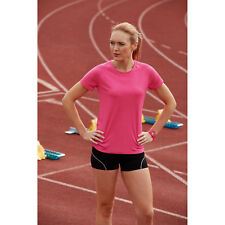Fruit of the Loom Ladies Fit Performance T-Shirt Womens Smart Sports Wear Tops