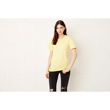 Canvas Ladies Womens Short Sleeve Favourite T Shirt Crew Neck Cotton Tee Plain