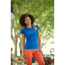 Fruit of the Loom Lady Fit Sofspun T-Shirt Womens Fashion Fit Soft Feel Tee Tops