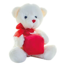 Mumbles White Color Teddy Bear with Red Gift Box Romantic Soft Toy Present New