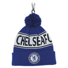 Official Football Club Merchandise Chelsea FC Supporter Adults Text Beanie Hat