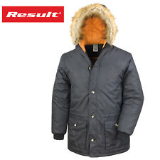 Result Urban Adults Unisex Outdoor Long Faux Fur Lined Hooded Jacket Warm Coat