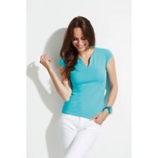 SOL'S DONNA MENTA stretch scollo a V T shirt manica corta top estate Casual