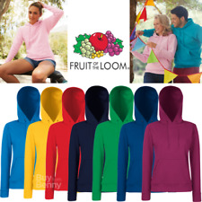 FRUIT OF THE LOOM felpa da donna Felpa classica da donna XS-2XL 16 colori NUOVO