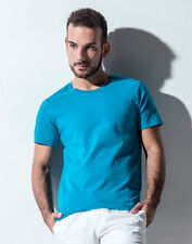 NAKEDSHIRT MEN'S TOP ORGANIC COTTON ECO SOFT T-SHIRT FITTED ROUND NECK TEE PLAIN
