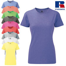Russell Women's Slim Fit Crew Neck T-Shirt Ladies Casual Short Sleeve Top New