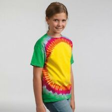 Colortone enfants RAINBOW col rond manches courtes TIE AND DYE T-SHIRT Neuf